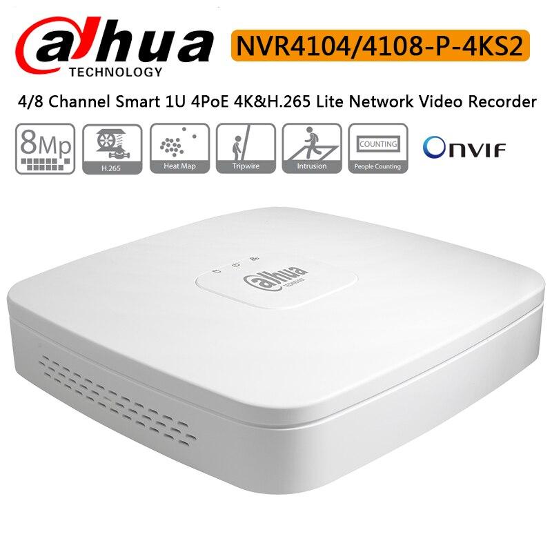 Dahua 4K NVR NVR4104 P 4KS2 4CH with 4 POE NVR4108 P 4KS2 8ch with 4PoE