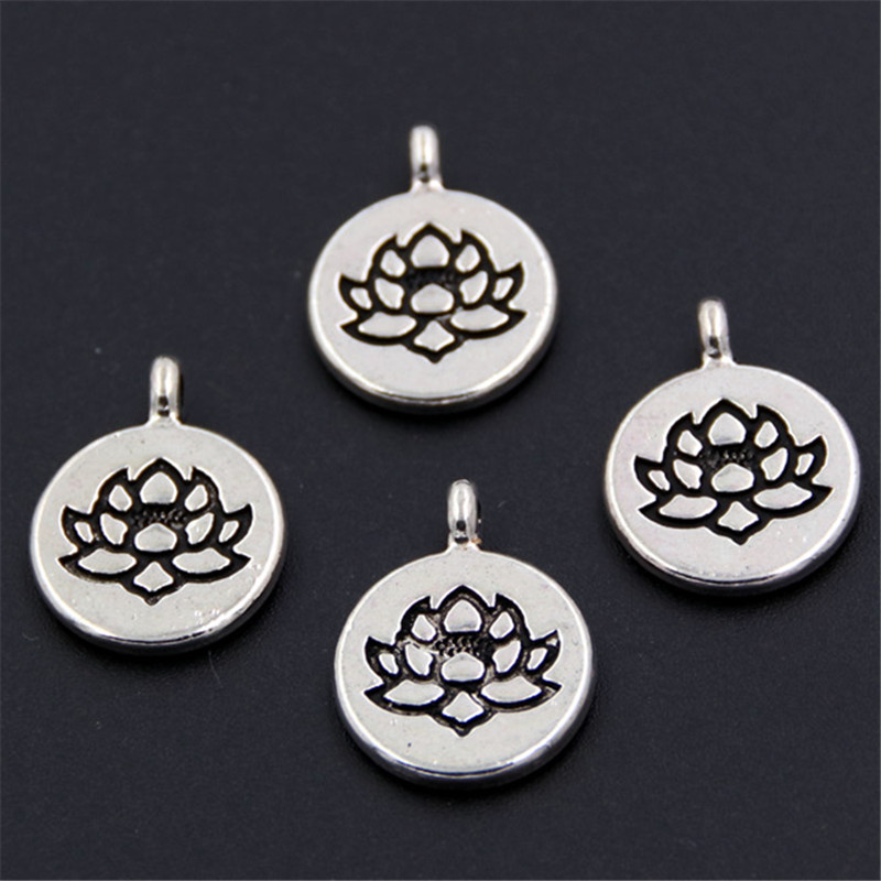 20Pcs Sea Shell Charms Antique Silver Seashell Bead DIY Bracelet Necklace Making