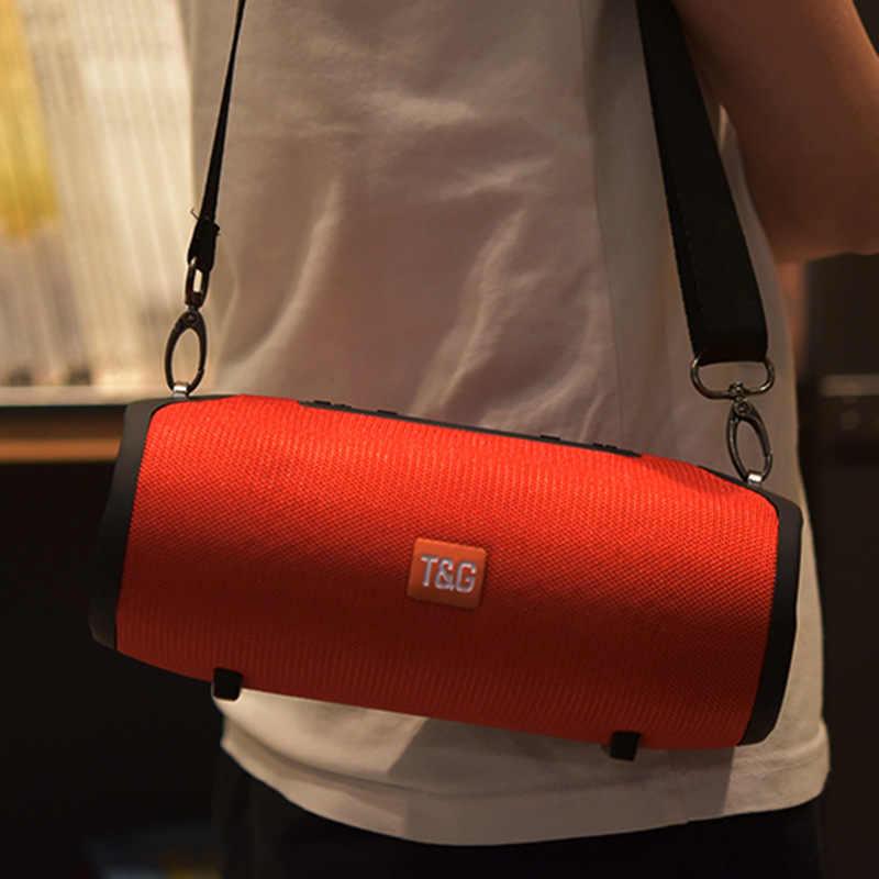Nirkabel Bluetooth Speaker Portabel Kolom Outdoor Tahan Air Speaker dengan FM Radio Subwoofer BOOMBOX USB PC Suara Bar untuk Ponsel