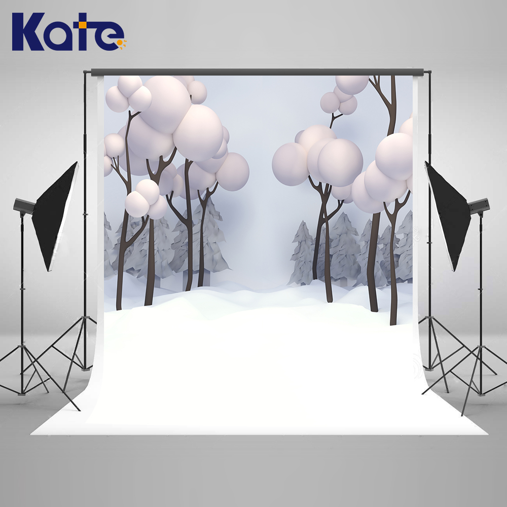 Kate Cartoon Winter Photo Background Snowflake Photographic Backdrops Snow Photo Background White Washable Photography Backdrops kate photo background dream field
