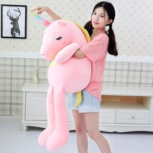 купить 2019 New arrival large unicorn plush toys cute rainbow horse soft doll stuffed animal best toys for children girl gift christmas дешево