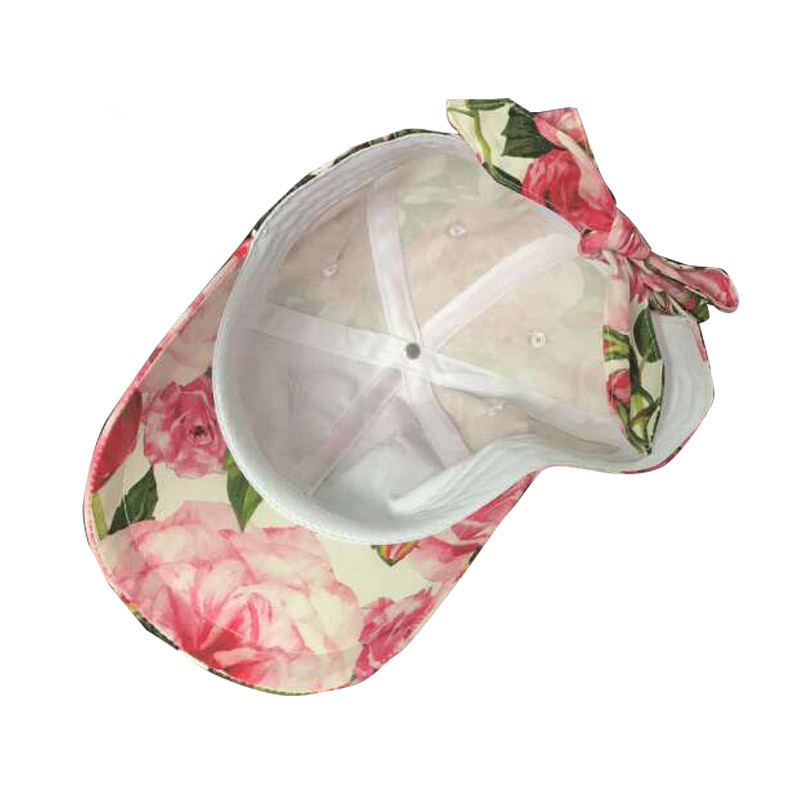 2017 Fashion Kids Girl Parent child Hat D Home Custom Rose Print Sun Cap  Baseball Cap With Skirt Women Snapback Hats Casquette-in Baseball Caps from  Apparel ... 441fdad1e4ee