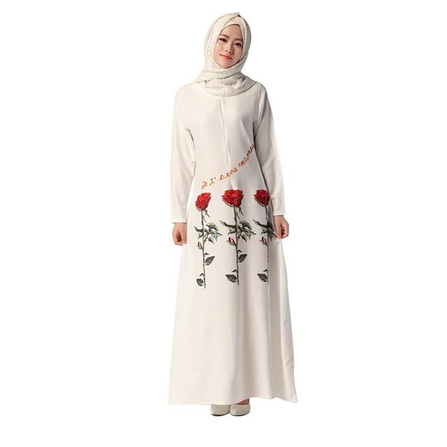 Elegant Muslims Women Dress Islamic Abaya Dress Turkish Jilbab Dubai Maxi Dress Burqas Ethnic Costumes
