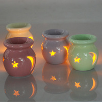 Moon And Star Japanese Style Mini Thick Hollow Ceramic Candle Aromatherapy Furnace Incense Burner