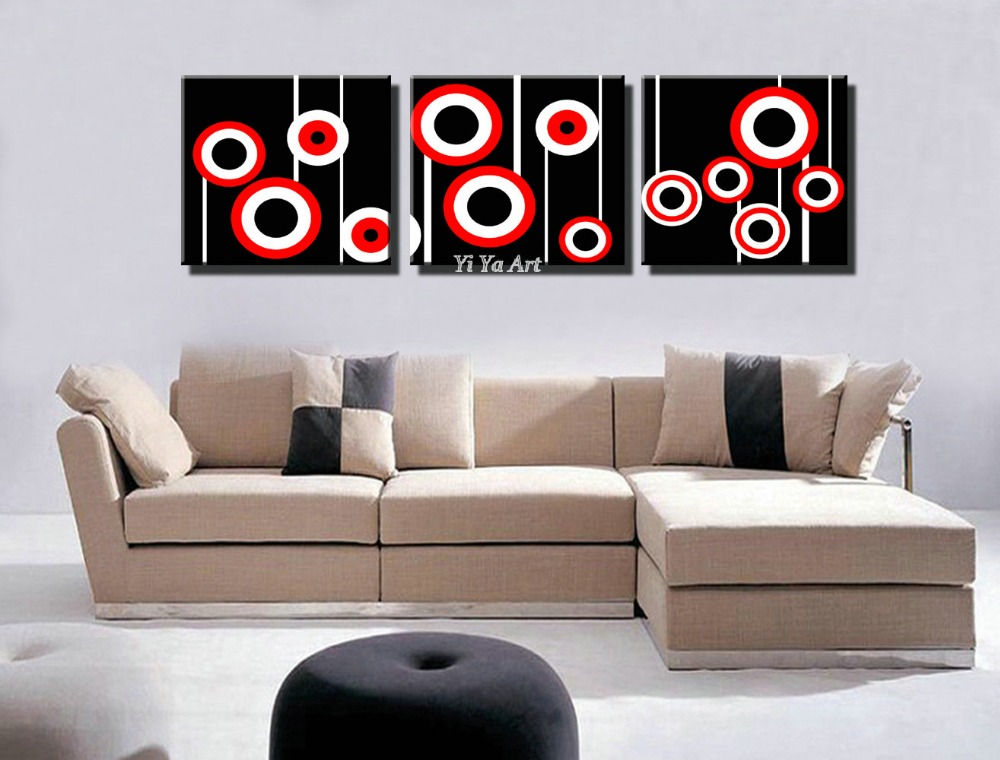 Red Black Abstract Modern Picture Decorative Drawing 3
