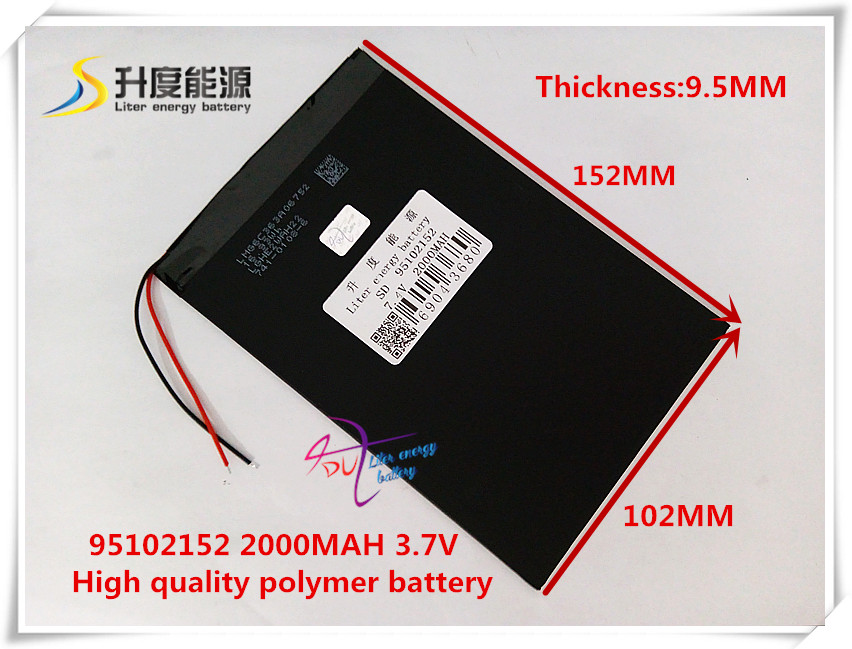 7.4V 20000mAH 95102152 (polymer lithium ion / Li-ion battery) for POWER BANK tablet pc mid MP3 MP4 3 line 3 7v 6000mah 4493105 polymer lithium ion li ion battery for tablet pc power mobile bank p85 vi40 a86
