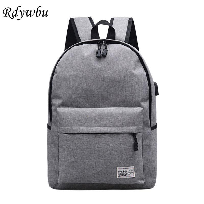 Rdywbu Usb Externe Lade Laptop Rucksack Neue Studenten Oxford Schulbuchtasche Teenager Wochenende Reisetasche Rucksack Mochila B613 Rucksäcke Gepäck & Taschen