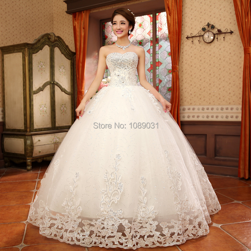 2017 Latest Wedding Dresses Elegant Sweetheart Ball Gown Formal ...