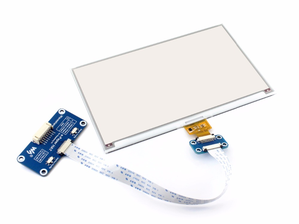 Image 2 - Waveshare 7.5inch e Paper HAT (B) display for Raspberry Pi Red Black White Three color SPI No Backlight Ultra low consumption-in Demo Board from Computer & Office