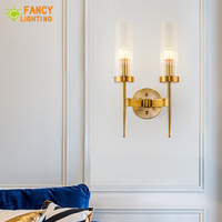 (E14 LED Bulb For Free) Modern Wall lamp Metal Led Wall light for home/bathroom/bedroom/living room decor Glass shade wandlamp