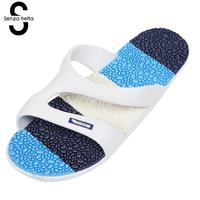 Senza Fretta 2017 Summer Non Slip Slippers Men Shoes Sandals Soft EVA Bathroom Slippers Cool Slippers