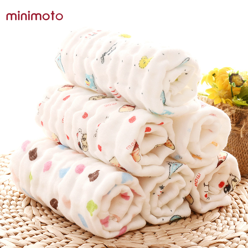 Gauze Muslin Soft Baby Bibs Kids Face Towel Cloth Hand Saliva Towel Wipes Square