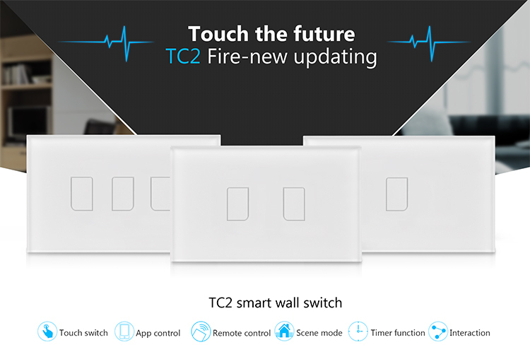 Broadlink TC2 Light Touch Switch US AU 2Gang Smart Home Wirless Remote Control Wall Switch White Touch Panel 01.jpg