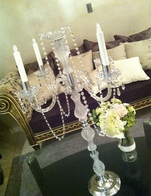 90cm Tall Table Centerpiece Acrylic Crystal Wedding Candelabra Candle Holder Supply