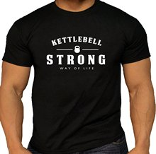 Quality Men's Strong Way of Life Kettlebell T-Shirt. Lifting Gymer O-Neck Fashion Casual High Quality Print T Shirt