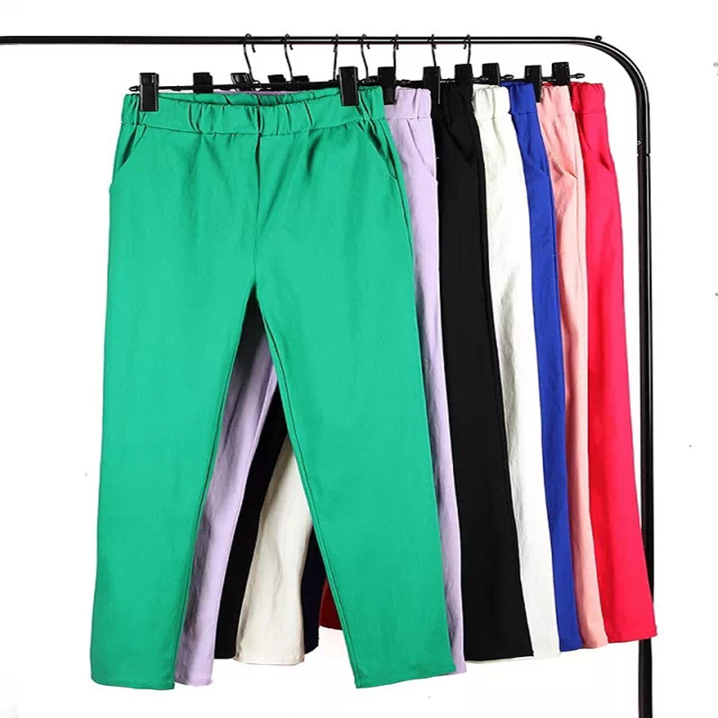 New Arrival high quality candy color Women Jeans elastic waist female plus size pants Woman Leggings S-6XL 110Kg