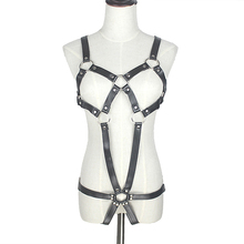 PU Leather Open Crotch Catsuit Teddy Sexy Lingerie for Women Sex Bondage Restraint Harness Crotchless Fetish Erotic Costumes 299