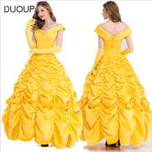 Beauty and the beast cosplay Bell Princess dress princess costume female