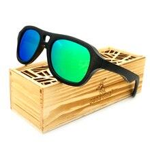 BOBO PÁJARO Mens Vintage Recubrimiento Para Mujer Gafas de Sol de Madera de Bambú de Madera gafas de Sol Polarizadas Espejo gafas de sol hombre