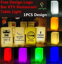 Bar Table LED Lamp QR CODE Customized Logo Restaurant Dinner Eating Place Business Cute Romantic Lamp Hotel Decoration Desk Tabl