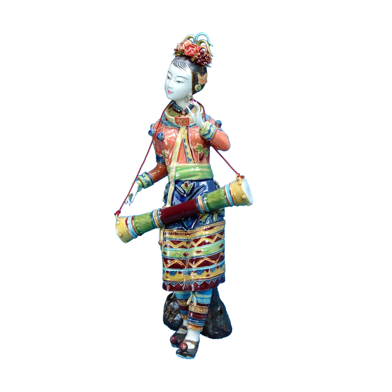 Chinese Beauty Statue Collectibles Antique Imitation Sculpture Arts Morvel Porcelain Statues Female Figurine for Christmas Gifts in Statues Sculptures from Home Garden