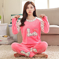 Kiss Rabbit Autumn and winter flannel pajamas thickening women flannel pajama sets sleepwear female girl coral fleece rabbit
