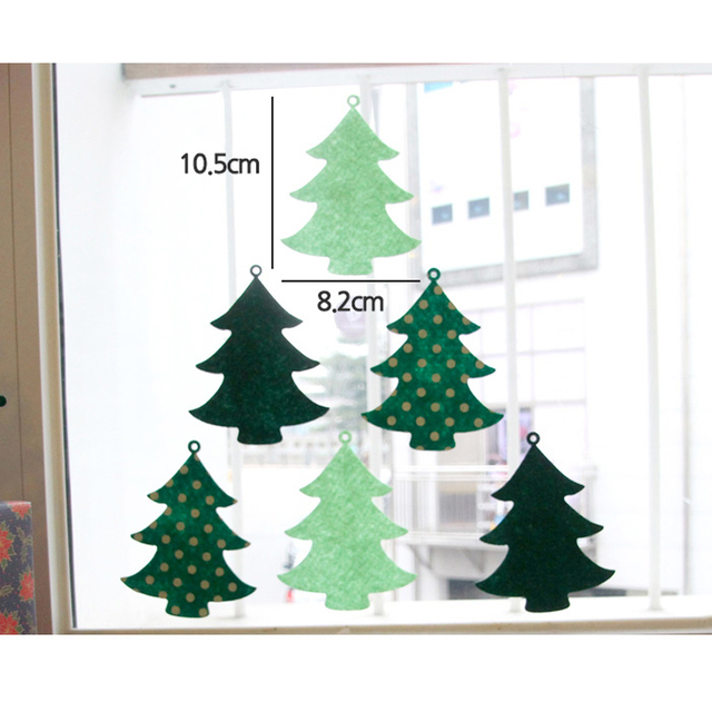 6 Flags 10x8cm Christmas Tree Decoration Window Stickers Wall ...