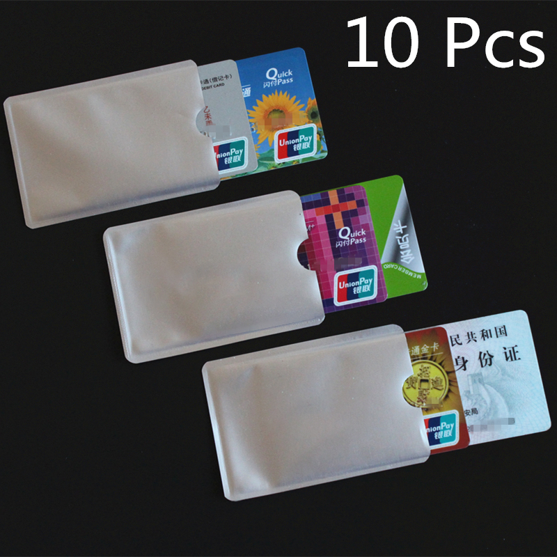 FGHGF 10pcs Silver Anti Scan RFID Sleeve Protector Credit ID Card Aluminum Foil Holder Anti-Scan Card Sleeve Hot Sale