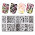 BeautyBigBang 6*12 см модные цветочный дизайн ногтей штамповки пластин тиснения для шаблоны для ногтей Nail Art BBB XL-041 - фото