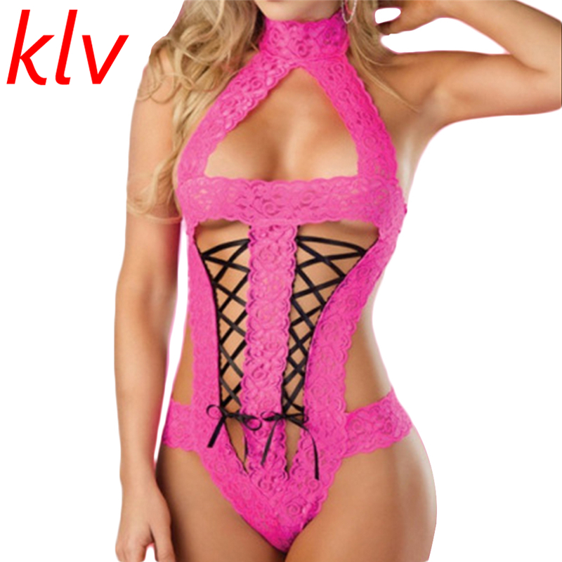 Sexy Costumes Lady Lace Sexy Lingerie Transparent Conjoined Dress Siamese Open Interest Perspective Three Point Women Underwear