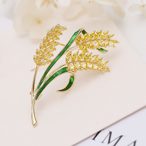 Image 3 - luxury jewelry accessory Korean jewelry colorful cubic zirconia tree branch leaves brooches pin fashion lady brooch HR03958