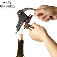 Hand Bars And Home Silver Color Metal Corkscrew New Held Bottle Opener