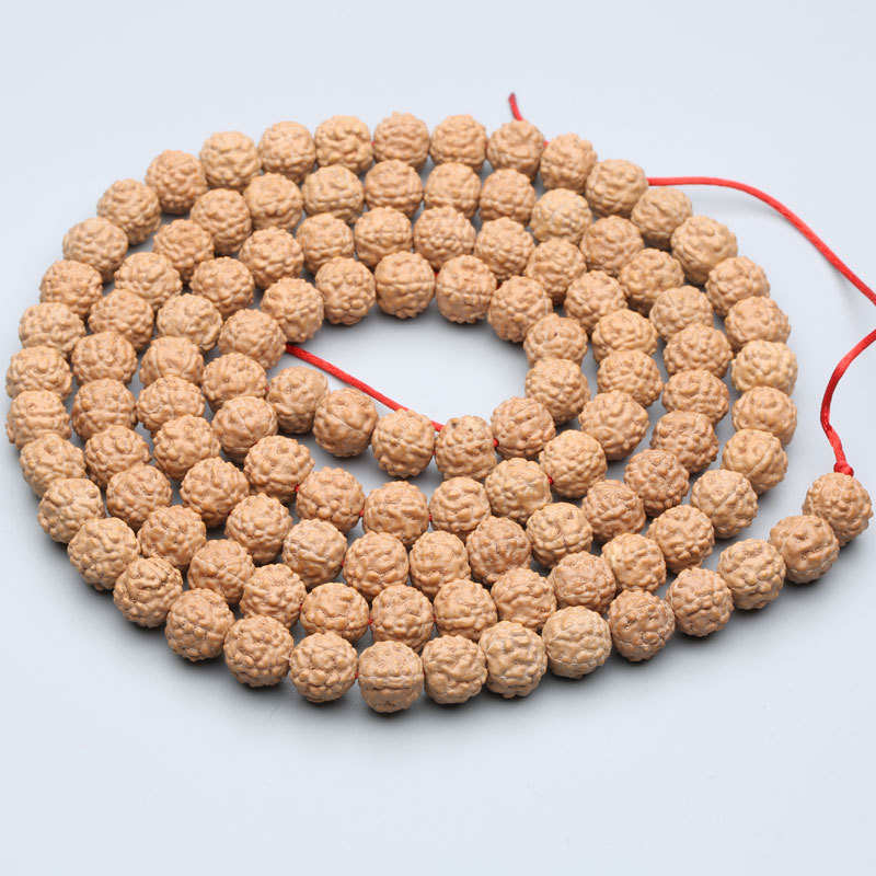TSB0531 Real Nepal Five Facets Rudraksh Bodhi Seeds Beads 108ビーズストランド8/9/10/11 / 12mm良質