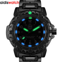 Top Fashion Student Casual Men's Noctilucent Quartz Wristwatch Waterproof Outdoor Sports Military Form Watch Alloy watchband