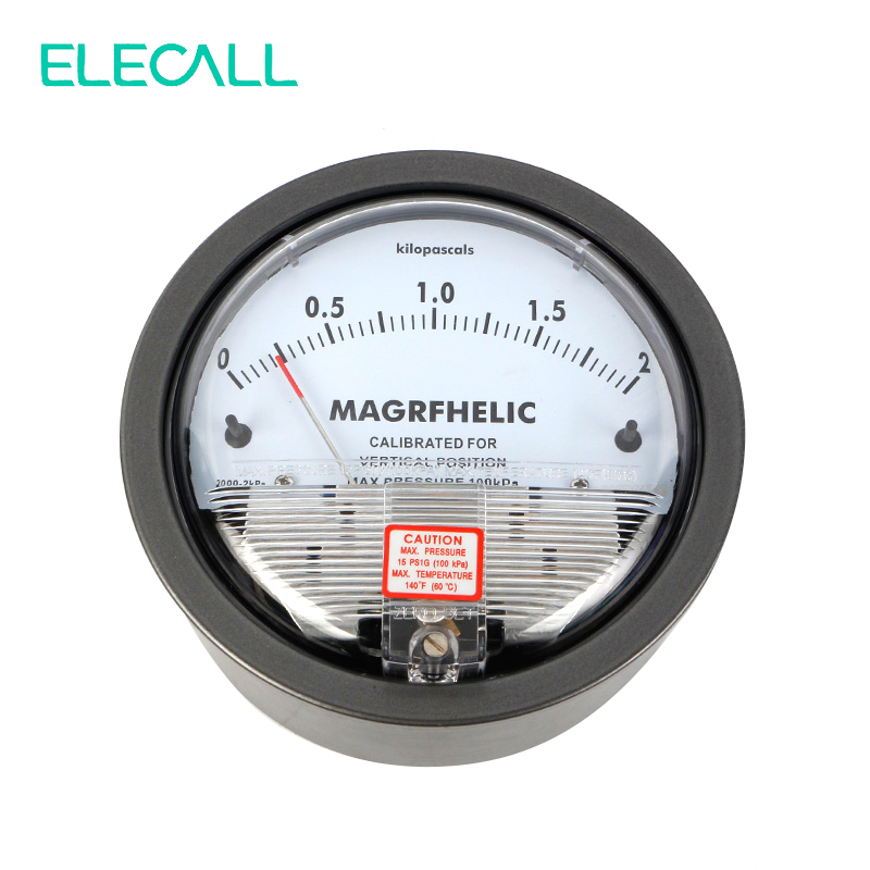 ELECALL Micro Differential Pressure Gauge TE2000 0-2KPA High Precision 1/8 NPT Air Pressure Meter Barometer te2000 500pa 500pa micro differential pressure gauge high