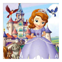 5D Diy Diamond Painting New Kids Cartoon Princess Castle Disney Diamond Spot Sticking Diamond Embroidery Cross Embroidery