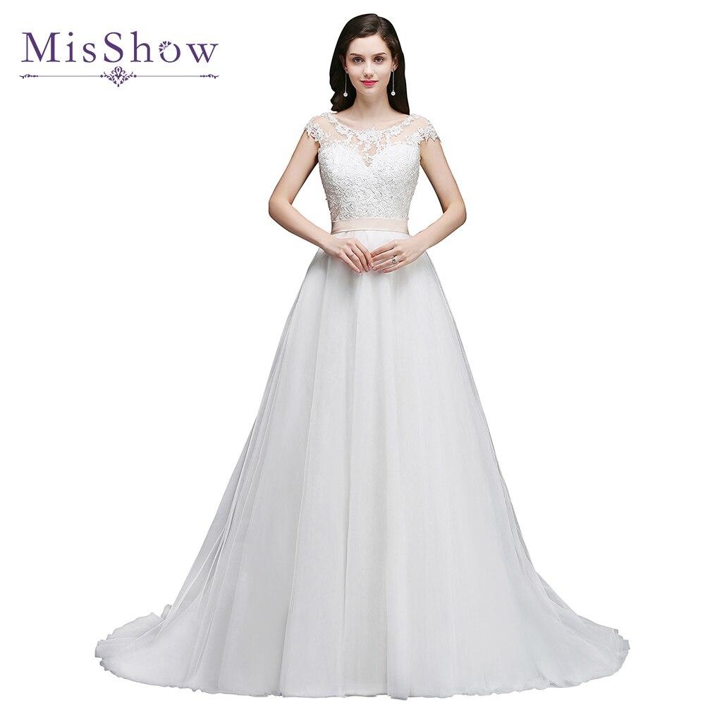Дешевое свадебное платье в Корейском стиле с шлейфом vestido de noiva длинное свадебное платье es A конец линии рукав Свадебная невеста, свадебное п...