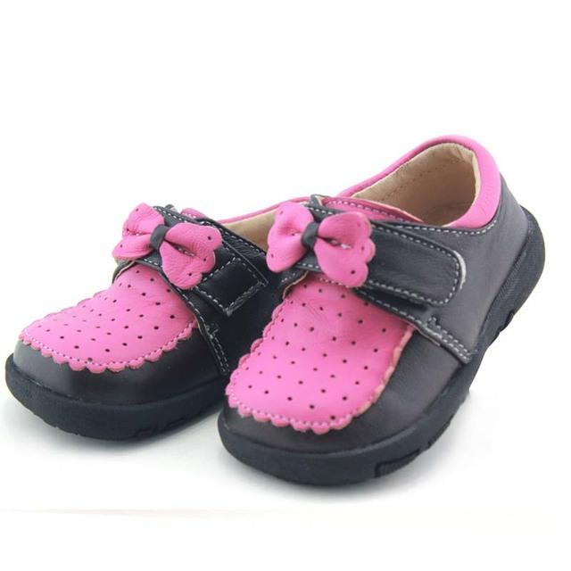 TipsieToes Marca Cuero Genuino Arco Bebé Embroma las Zapatillas de deporte Zapatos Mocasines Para Las Niñas Princesa de Tenis Infantil Nueva 2016 Otoño A23002