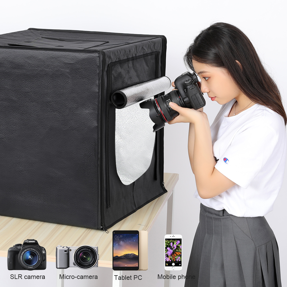 Mini Photo Studio Lightbox Tabletop Shooting Tent 50 cm Soft Box 132 LED Photography Light Portable Folding Studio Kit Upgrade