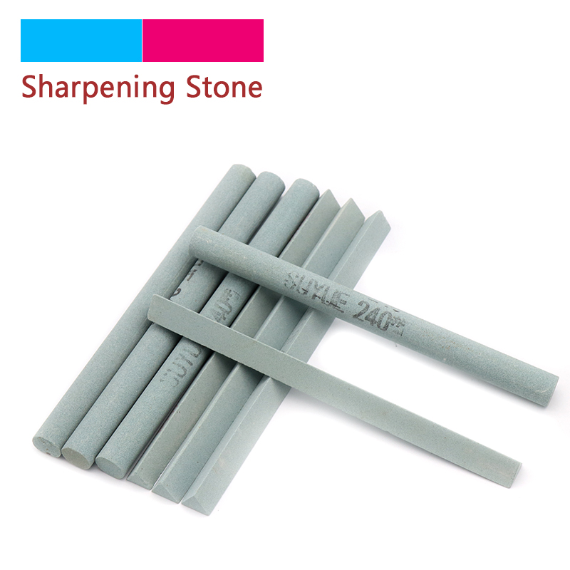 1pcs 240/320/400/600# Grit Oil Stone Green Silicon Carbide Sand Bar Abrasive Block For Ceramic Jade Knife Sharpener Tools