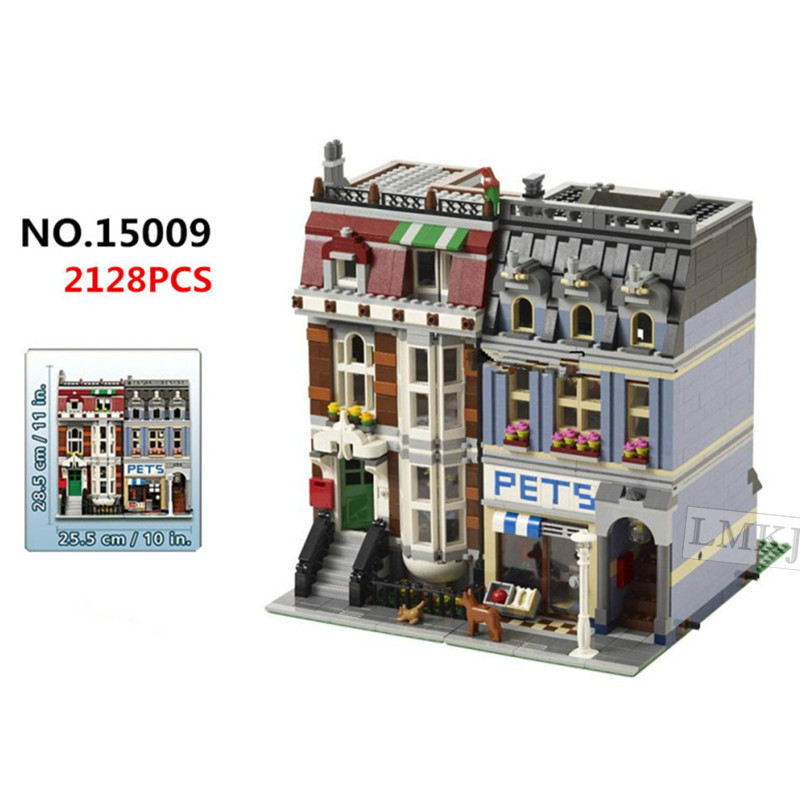 Lepin City Street Creator Pet Shop Model Building Blocks Bricks Toys for Children Compatible with Legoingly 10218 Birthday Gifts 1681pcs assembly blocks burj khalifa tower model toy diamond bricks kids gifts birthday present compatible creator 16 16 45cm