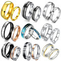 OPK JEWELRY 10 pair/lot Stainless Steel Couple Rings Fasinon Titanium Steel Rings For Lover Gift Free Shipping Mixed Order