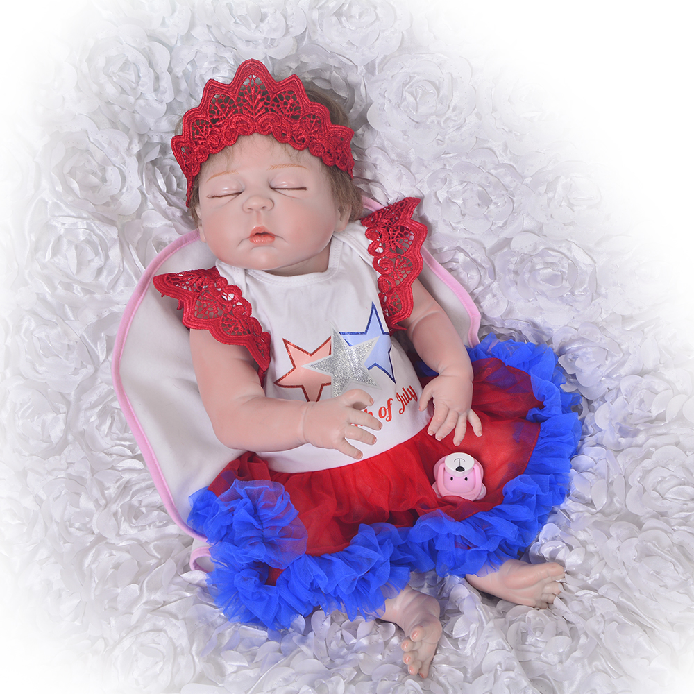 23 Reborn Babies Doll Girl Full Body Silicone Vinyl Lifelike Sleeping Newborn Red Skin Princess For Kids Playmates Baby Doll23 Reborn Babies Doll Girl Full Body Silicone Vinyl Lifelike Sleeping Newborn Red Skin Princess For Kids Playmates Baby Doll