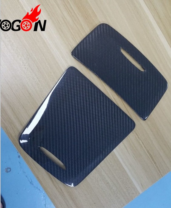 Real carbon fiber Center Console Storage Box Cigarette Ashtray Holder Panel Cover For Benz GLA Class X156 GLA200 GLA250 2014+ цена