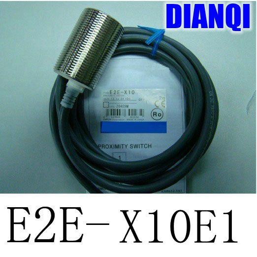 Inductive Proximity Sensor E2E-X10E1 Detection distance 10MM NPN 3WIRE NO DC6-36V Proximity Switch sensor switch  dhl ems 5 lots new omron inductive proximity switch sensor npn e2e x1c2 e2ex1c2