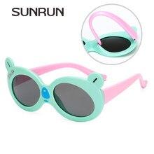 2a4ec43677 Sol run niños Polarized Gafas de sol moda niños tr90 Marcos Sol Gafas  protección UV Niños Niñas gato ojo gafas s8165