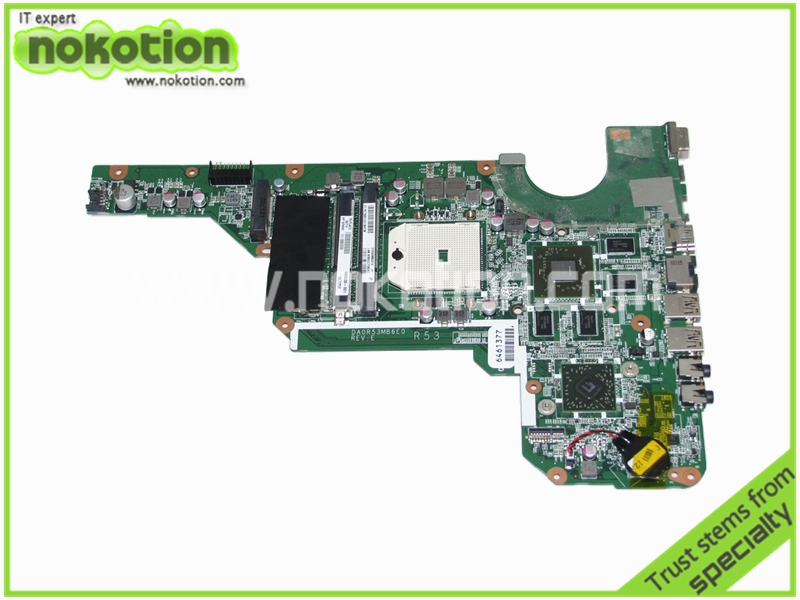 NOKOTION laptop motherboard for hp pavilion g4-2000 g6-2000 683030-001 DA0R53MB6E0 REV E AMD HD 7670M DDR3 683029 501 683029 001 main board fit for hp pavilion g4 g6 g7 g4 2000 g6 2000 laptop motherboard socket fs1 ddr3