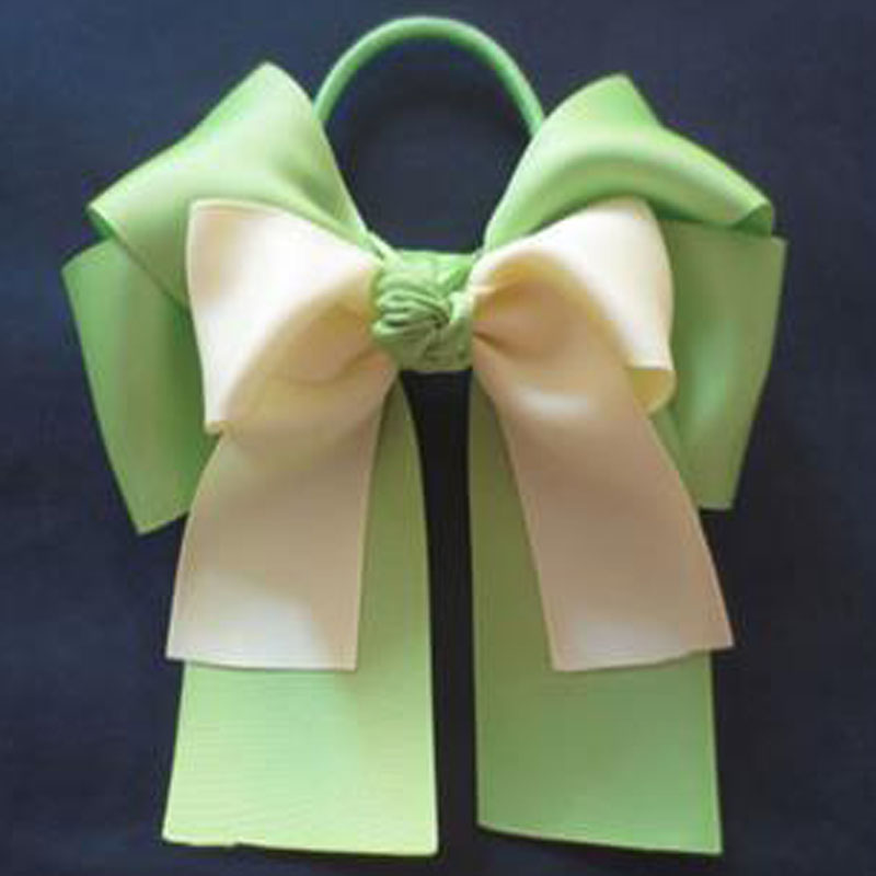 10pcs Free Shipping BLESSING Happy Girl Hair Accessories 6 Double Cheer Leader Bows Elastics