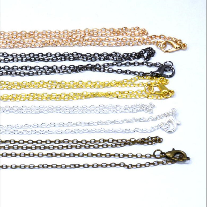 10pcs/lot Gold Black Silver Necklace Chains For Jewelry Making With Lobster Clasps, Chain Necklace Pendant DIY Jewelry Findings