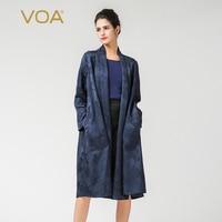 Voa шёлковый Тренч кардиган длинная одежда пальто для женщин sobretudo feminino Harajuku Дамы куртки ветровки готический плюс размеры F7392